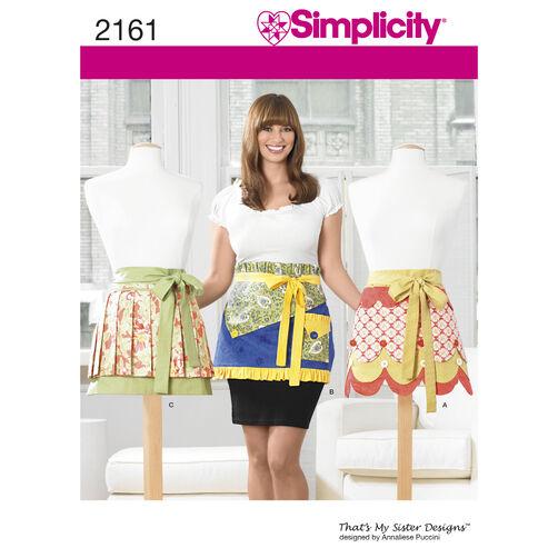 Simplicity Pattern 2161 Misses' Apron