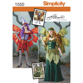 Simplicity Pattern 1550 Misses' Amy Brown Fairy Costume