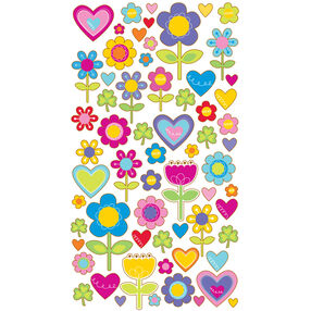 I Love Flowers Stickers_52-00317