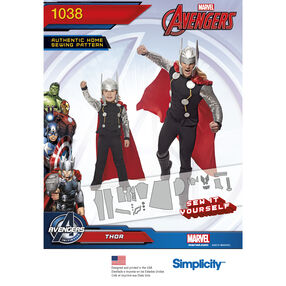 Simplicity Pattern 1038 Thor Costume for Men and Boys