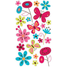 Butterfly Garden  Glitter Stickers_52-00163