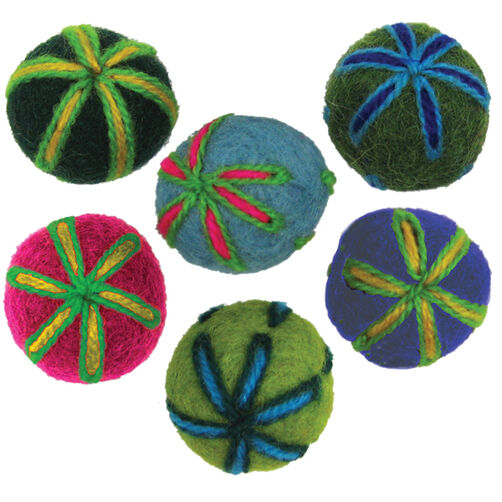 Felt Embroidered Balls_72-73833