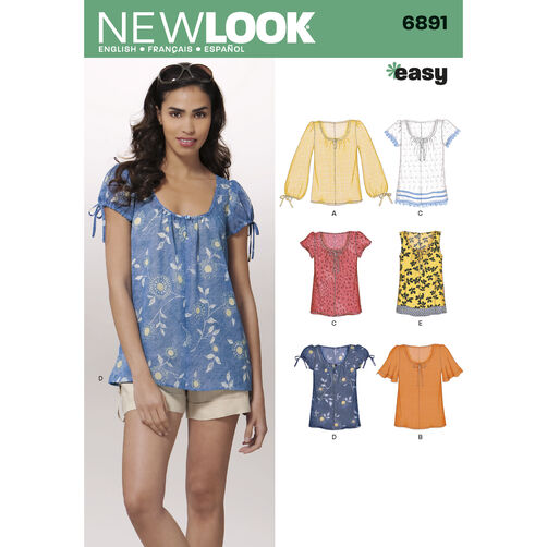New Look Pattern 6891 Misses' Tops