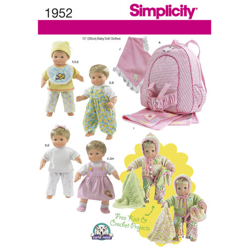 Simplicity Pattern 1952 Doll Clothes & Accessories