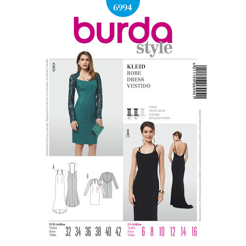 Burda Style Pattern 6994 Dress