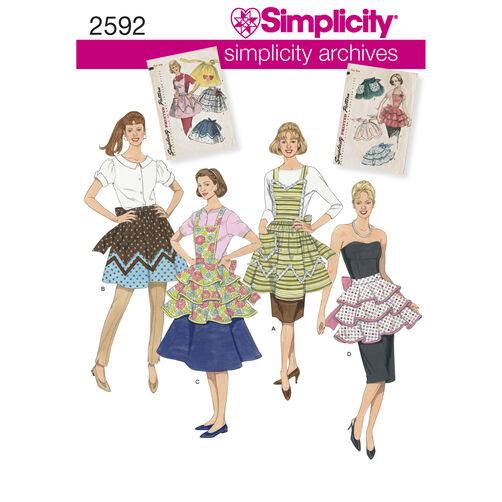 Simplicity Pattern 2592 1950s Vintage Aprons