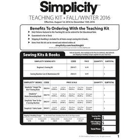 Teaching Kit Order Form, Fall/Winter 2016