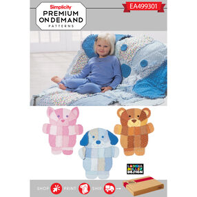 Simplicity Pattern EA499301 Premium Print on Demand Rag Quilt
