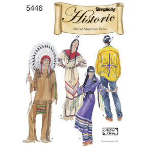 Simplicity Pattern 5446 Misses', Men's & Teen's Native American Costumes