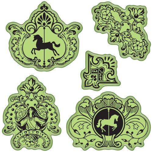 Carousel Cling Stamps_65-32084