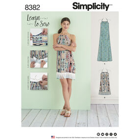 Simplicity Pattern 8382 Misses' Halter Dress in Two Lengths