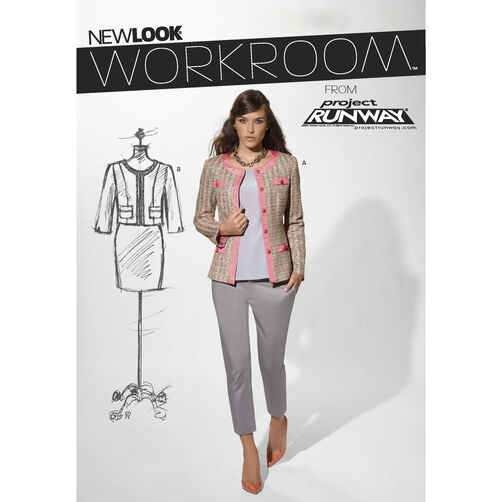 New Look Pattern 6188 Misses' Jackets in Two Lengths