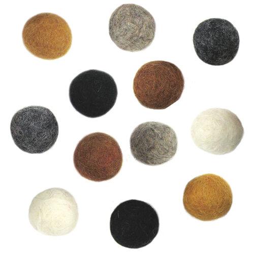 Earth Tone Felt Balls_72-73832
