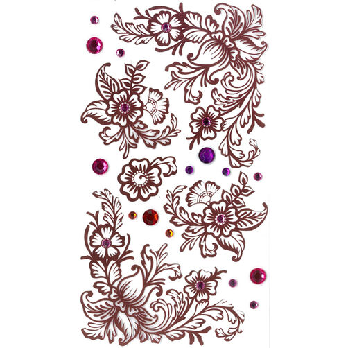 Henna Flourishes Stickers_50-50457
