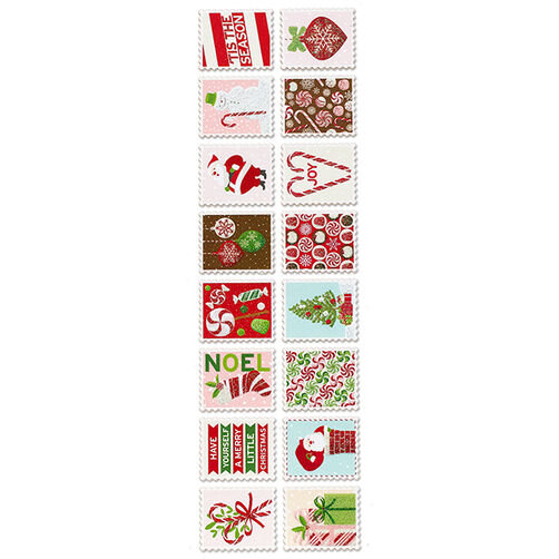 Peppermint Winter Stamp Stickers_48-30234