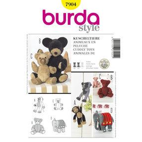 Burda Style Pattern 7904 Cuddly Toys