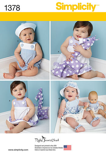 Babies' Outfit with Doll Clothes & Accessories