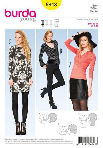 Burda Style Pattern 6848 Dresses