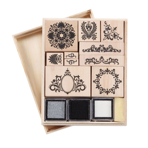 Flourish Wooden Stamp Set_40-20007