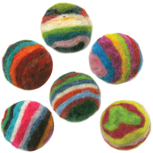 Striped Wool Felt Balls_72-73844