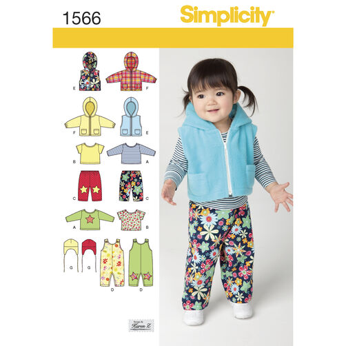 Simplicity Pattern 1566 Babies' Separates