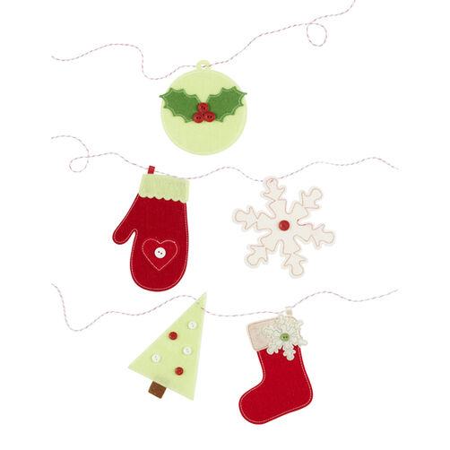 Cottage Christmas Icons Garland_48-30166