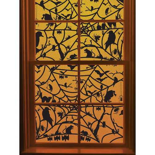 Haunted Web Window Cling_48-20129