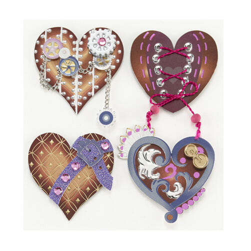 Steampunk Heart Stickers_50-21045