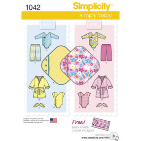 Simplicity Pattern 1042 Babies' Layette