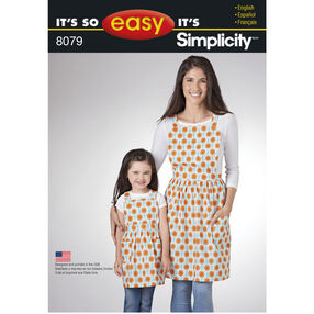 It's So Easy Pattern 8079 Aprons for Child and Miss
