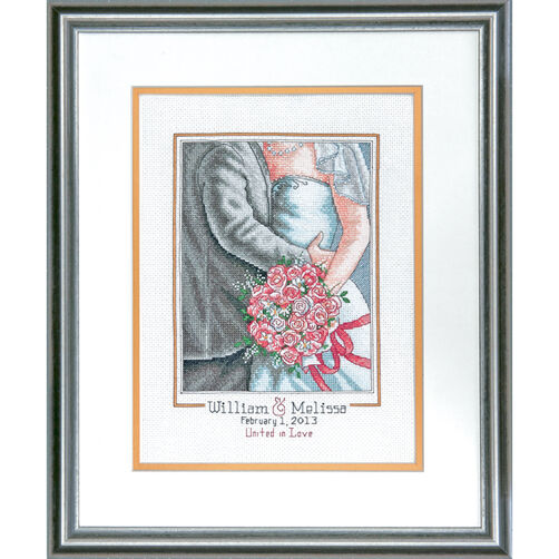 Embrace Wedding Record Counted Cross Stitch Kit_70-73806