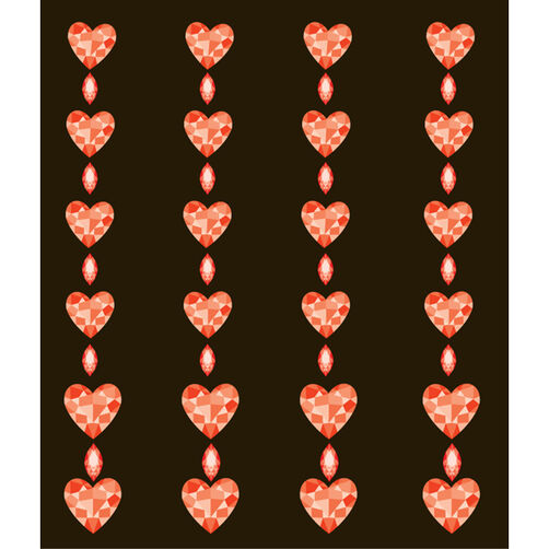 Red Hearts Repeat Electronic Stickers_50-00138