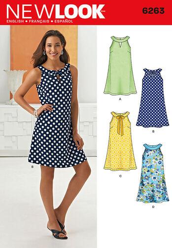 Misses' A- Line Dress