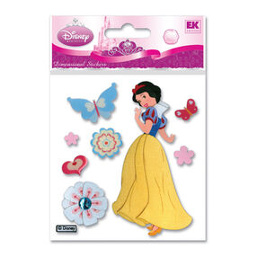 Snow White With Butterflies Dimensional Stickers_DSMSWB