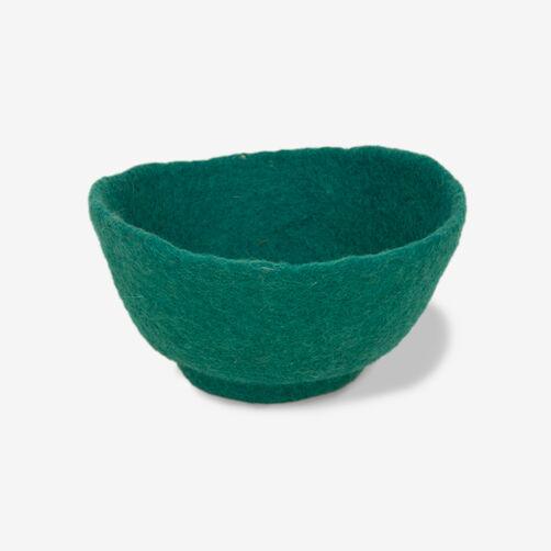 Small Turquoise Felt Bowl_72-73655