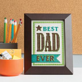 Cross Stitch Best Dad Ever