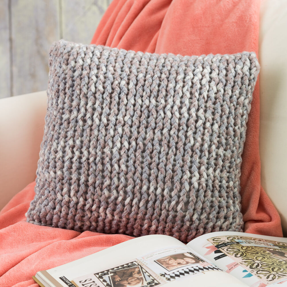 Loom Knit Throw Pillow Boye and Simplicity