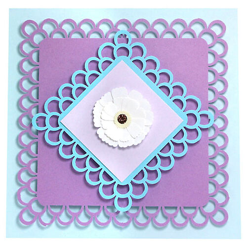 Double Loops Flower Card