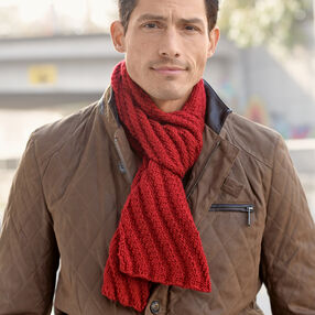 Men's Steep Diagonal Knit Scarf