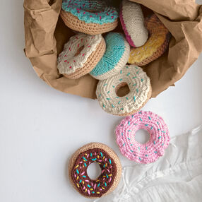 Crochet/Knit Sprinkle Doughnuts