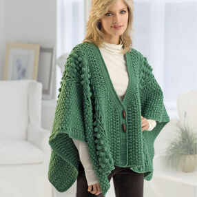 Crochet Aran Toggle Wrap