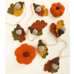 Crochet Acorn Garland and Pumpkins