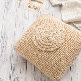Simple Knit Throw Pillow