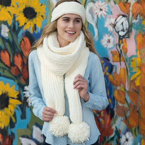 Loom Knit Headband and Super Scarf