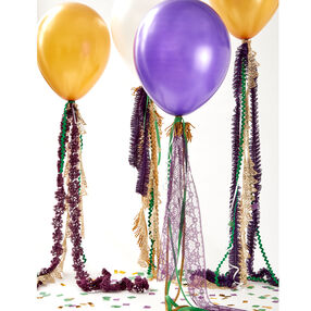 Mardi Gras Fancy Trim Balloons