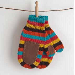 Two-Needle Knitted Mittens