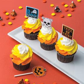 Cross Stitch Halloween Cupcake Picks