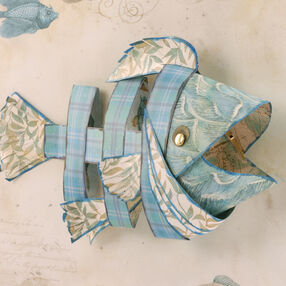 One Fish Blue Fish Paper Sculpture