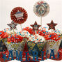 Star Spangled Cupcake Wrappers & Toppers