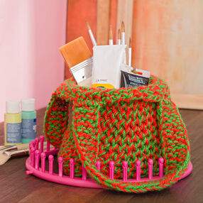 Loom Knit Mesh Shopping Tote